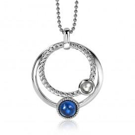 Zinzi ZIH1963 Hanger zilver met witte en blauwe stenen-1