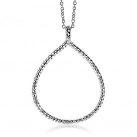 Zinzi ZIH2046 Hanger Druppel zilver gedraaid 40 mm