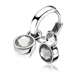 Zinzi Creoolhangers zilver zwart-wit ZICH1006Z