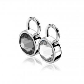 Zinzi ZICH1006Z Oorringbedels zilver zwart-wit