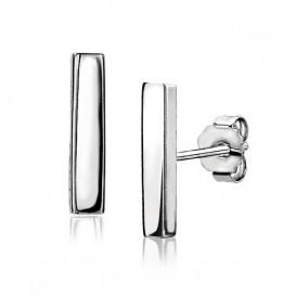 Zinzi ZIO1384 Oorknoppen zilver staafje 12 mm-2