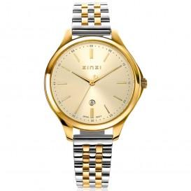 Zinzi ZIW1010 Horloge Classy + gratis armband zilver-en goudkleur 34 mm