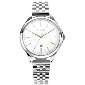 Zinzi ZIW1017 Horloge Classy staal zilverkleurig-parelmoer 34 mm + gratis armband