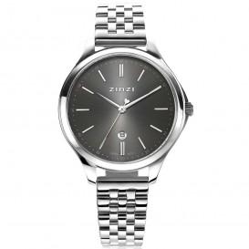 Zinzi ZIW1024 Horloge Classy + gratis armband zilverkleurig-grijs 34 mm