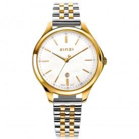 Zinzi ZIW1034 Horloge Classy + gratis armband zilver-en goudkleur-parelmoer 34 mm