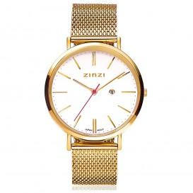 Zinzi Horloge Retro goudkleurig 38 mm + gratis armband ZIW407M