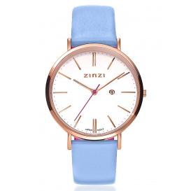 Zinzi Horloge rose/lichtblauw/fuchsia gratis armband ZIW408B