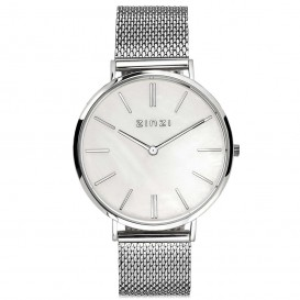 Zinzi Horloge Retro zilverkleurig 38 mm + gratis armband ZIW417M