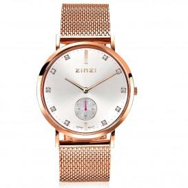 Zinzi ZIW426M Horloge Retro + gratis armband 38 mm rosekleurig-wit-1
