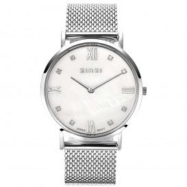 Zinzi Horloge Retro zilverkleurig + gratis armband 34 mm ZIW521M