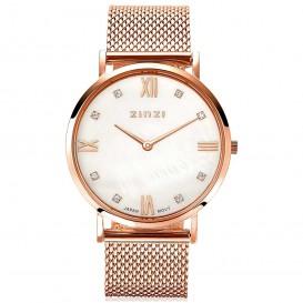 Zinzi Horloge Retro rosékleurig+ gratis armband 34 mm ZIW522M