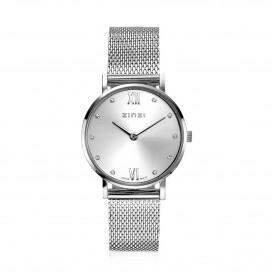 Zinzi ZIW628M Horloge Lady + gratis armband 26 mm zilverkleurig