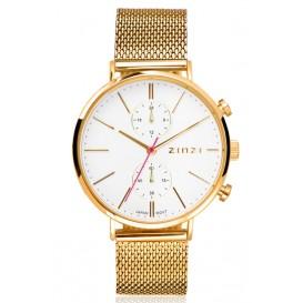 Zinzi horloge Traveller Dual Time Gold + Gratis armband 39 mm ZIW707M