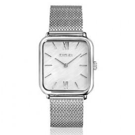 Zinzi ZIW821M Horloge + gratis armband parelmoer-zilverkleurig
