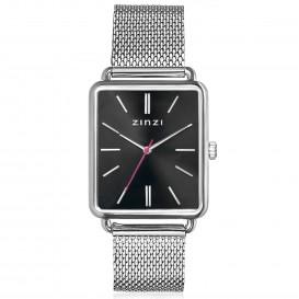 Zinzi ZIW901M Horloge Vintage Retro + gratis armband 34 mm zilverkleurig