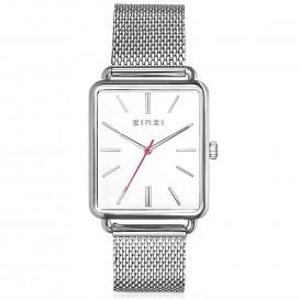 Zinzi ZIW906M Horloge Vintage Retro + gratis armband 34 mm zilverkleurig