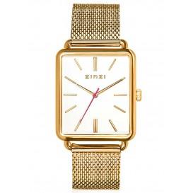 Zinzi ZIW907M Horloge Vintage Retro + gratis armband 34 mm goudkleurig