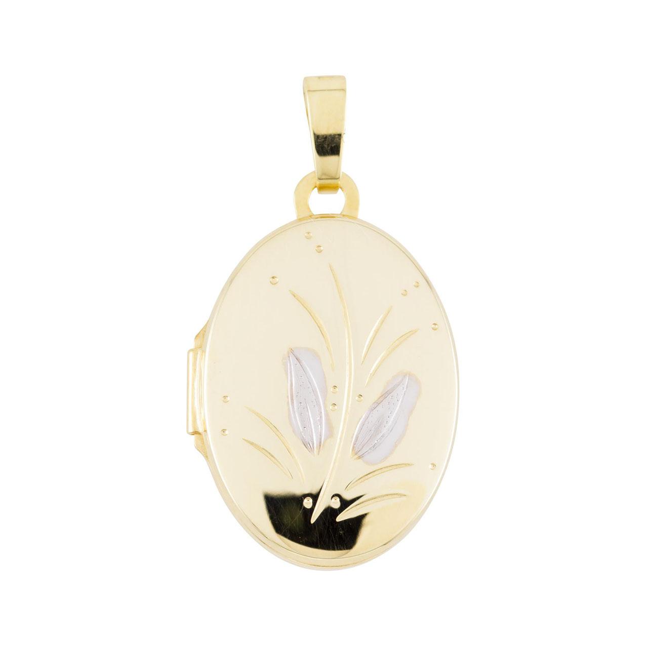 Glow Gouden Medaillon Ovaal 14 x 26 mm 245.0083.00
