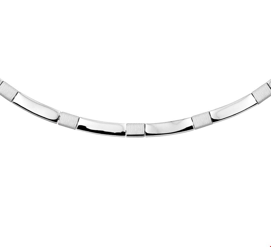 TFT Zilveren Ketting Poli/mat 4,5 mm 45 cm