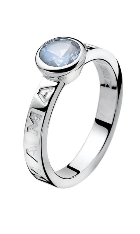 Zinzi ZIR849B Ring Mama zilver zirconia zilverkleurig blauw Maat 54