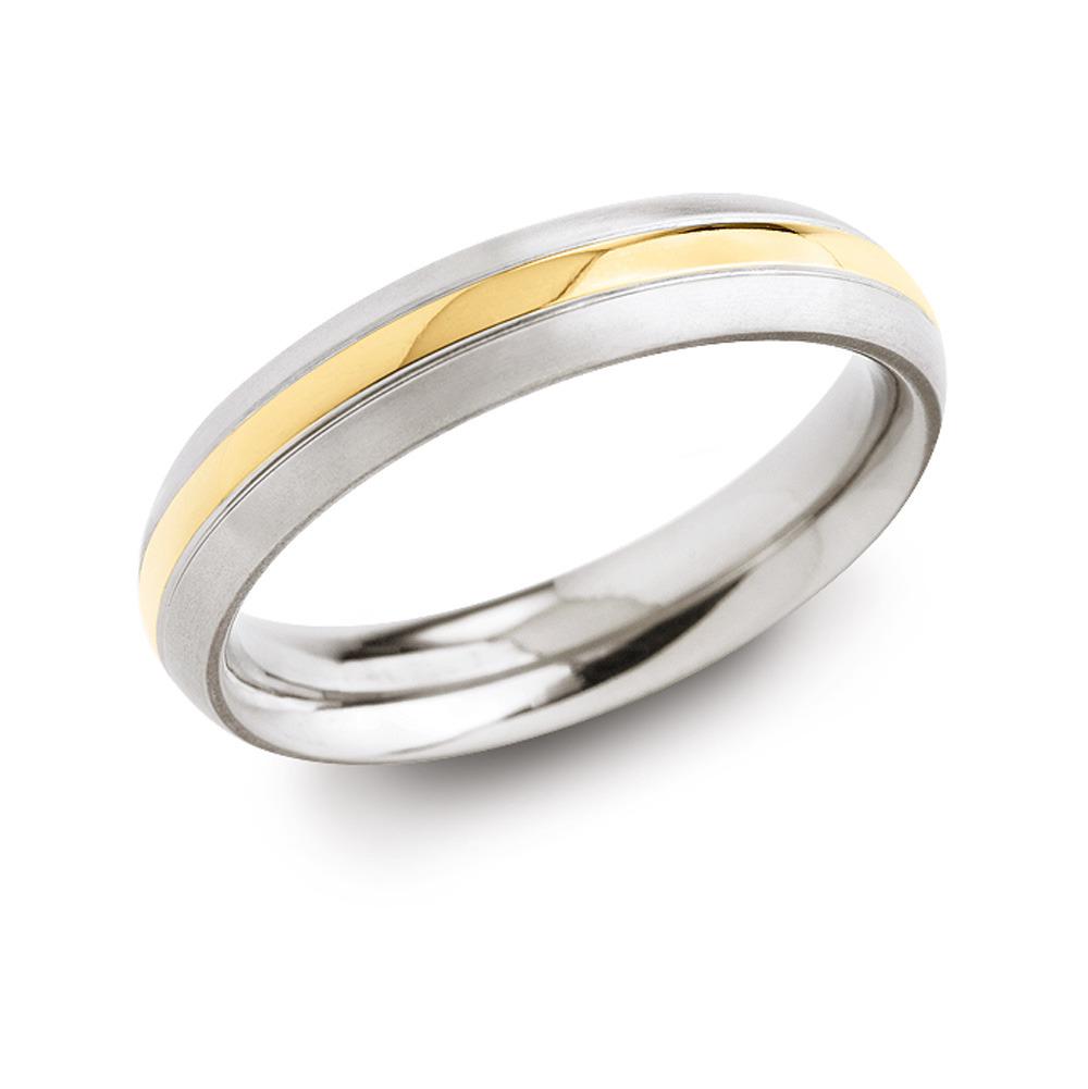 Boccia 0131 02 vergulde titanium ring Maat 58 is 18.5mm