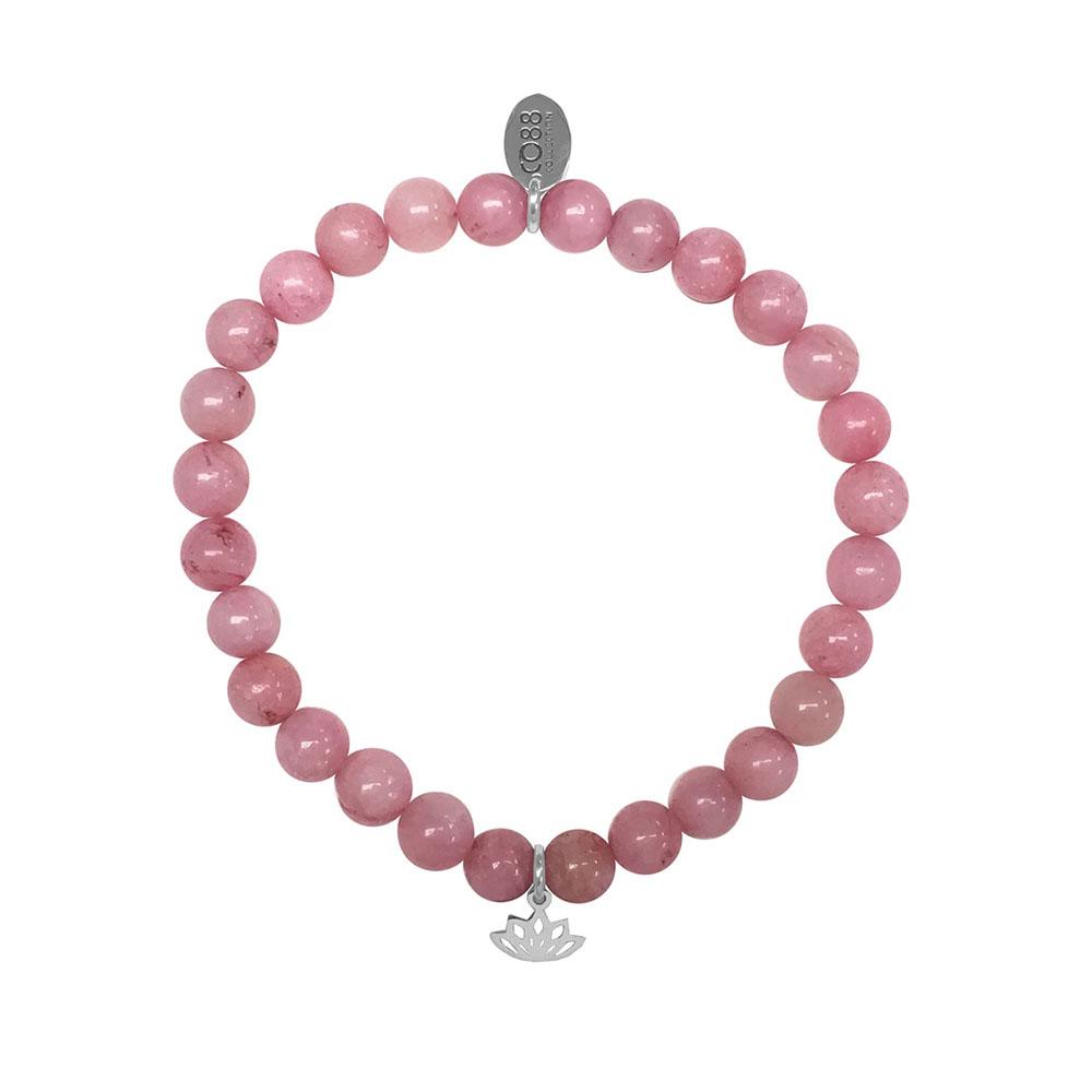 CO88 Armband Lotus Love en Fidelity staal-jade-roze, rek-all-size 8CB-17038