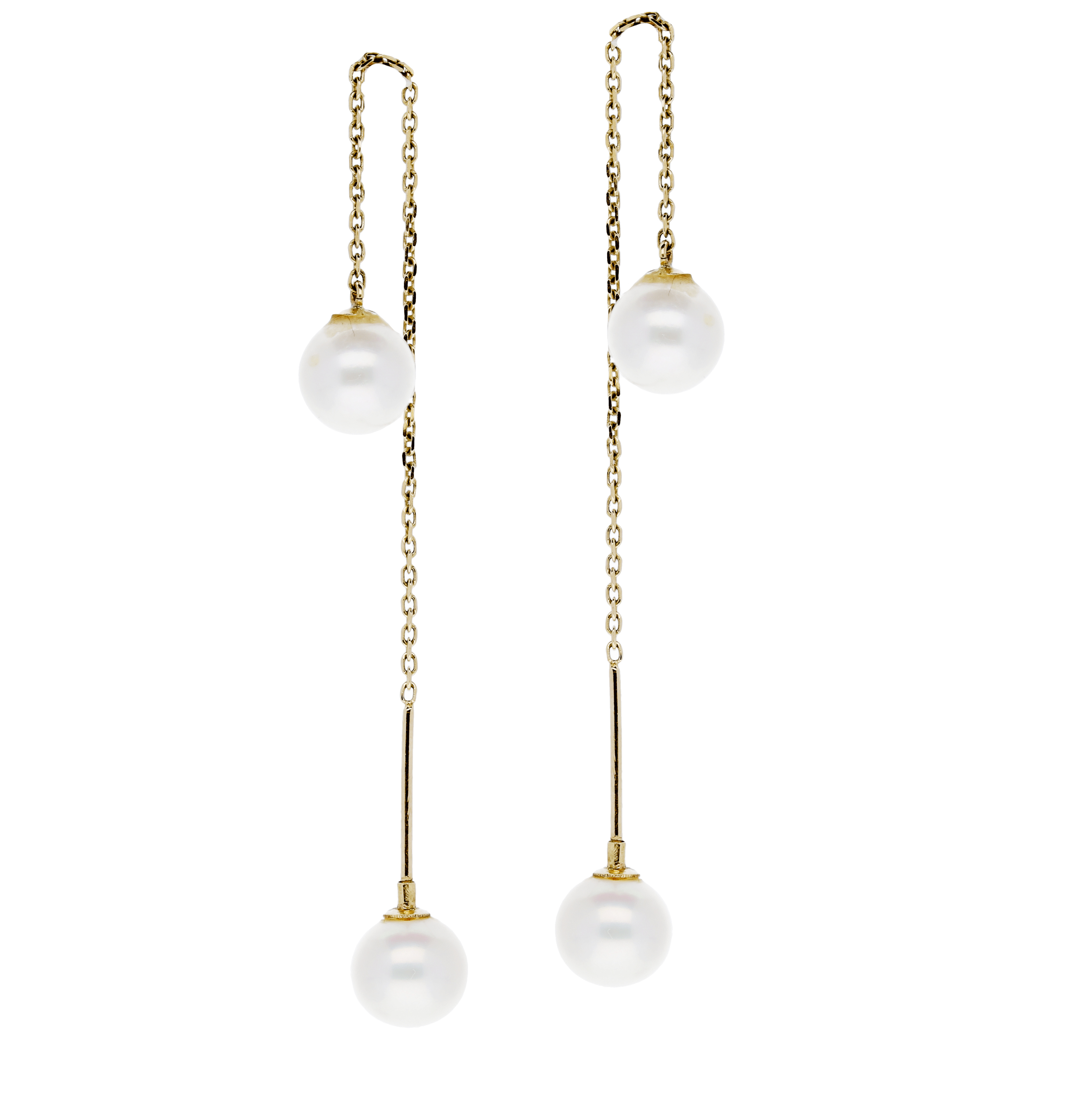 Glow Gouden Oorhangers Gold Collection Zw Parel 208.2045.00