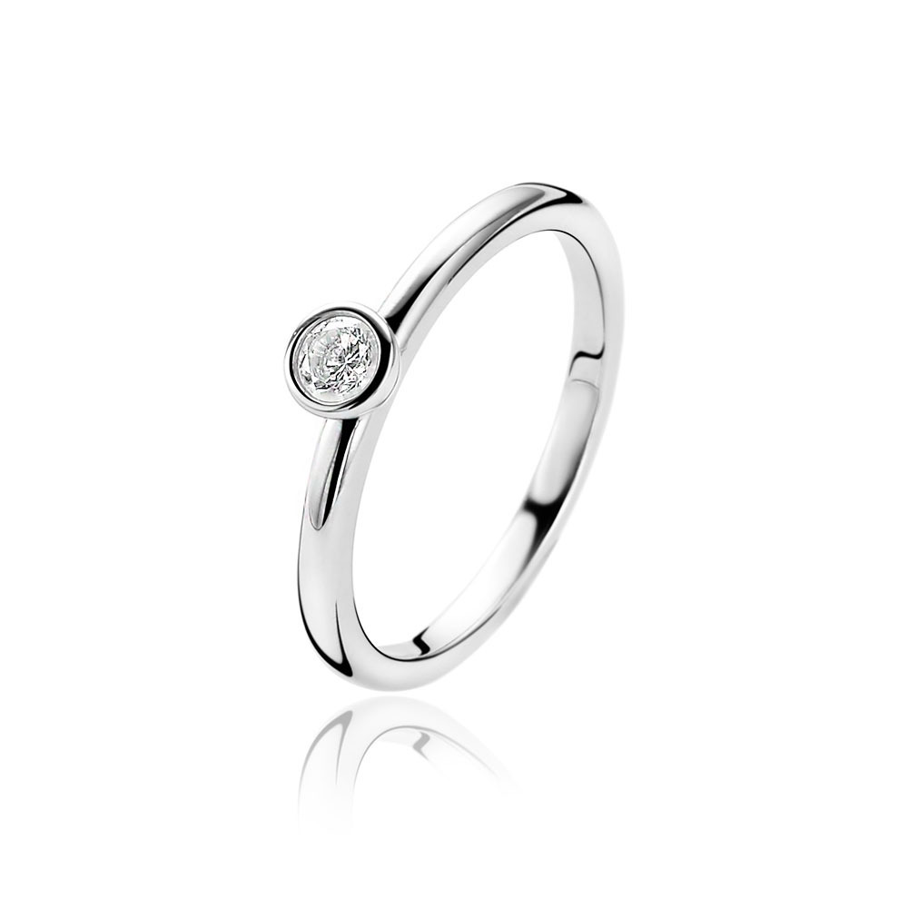 Zinzi ZIR1177 Ring zilver met zirkonia Maat 62