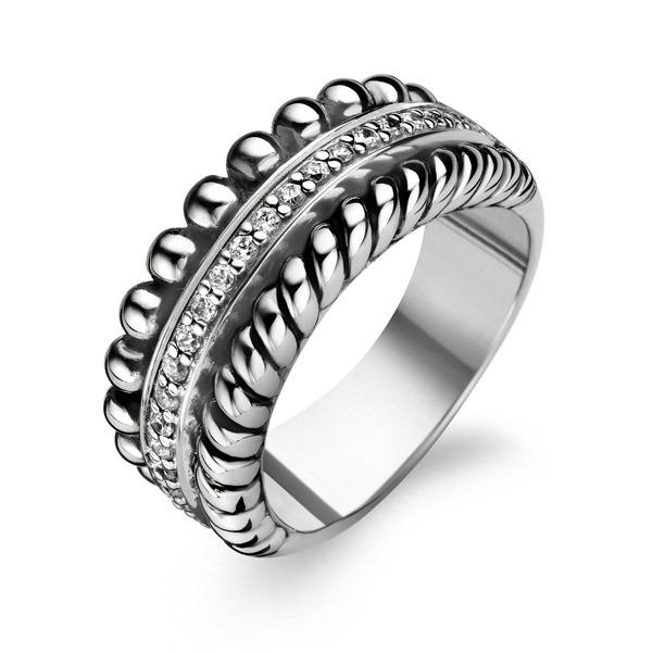 Ti Sento zilveren ring