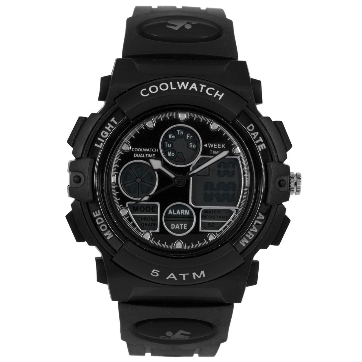 Coolwatch by Prisma CW.384 Kinderhorloge Digitaal kunststof/siliconen zwart 43 mm