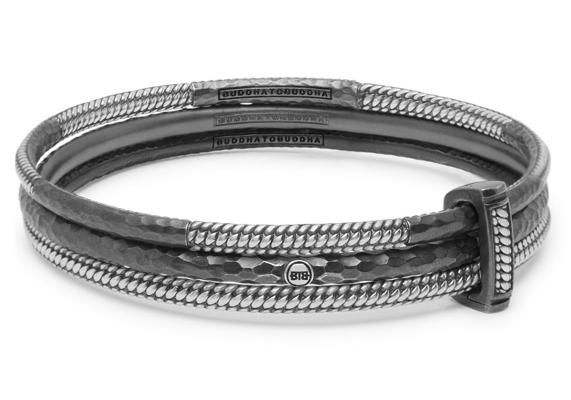 Buddha to Buddha 316 Armband Dunia Bersama Set zilver Maat M (17 19 cm)