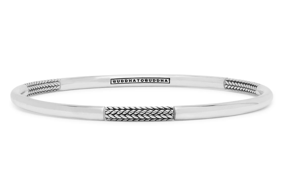 Buddha to Buddha 310 Armband Dunia Ellen Alternate zilver maat M (17-19 cm)