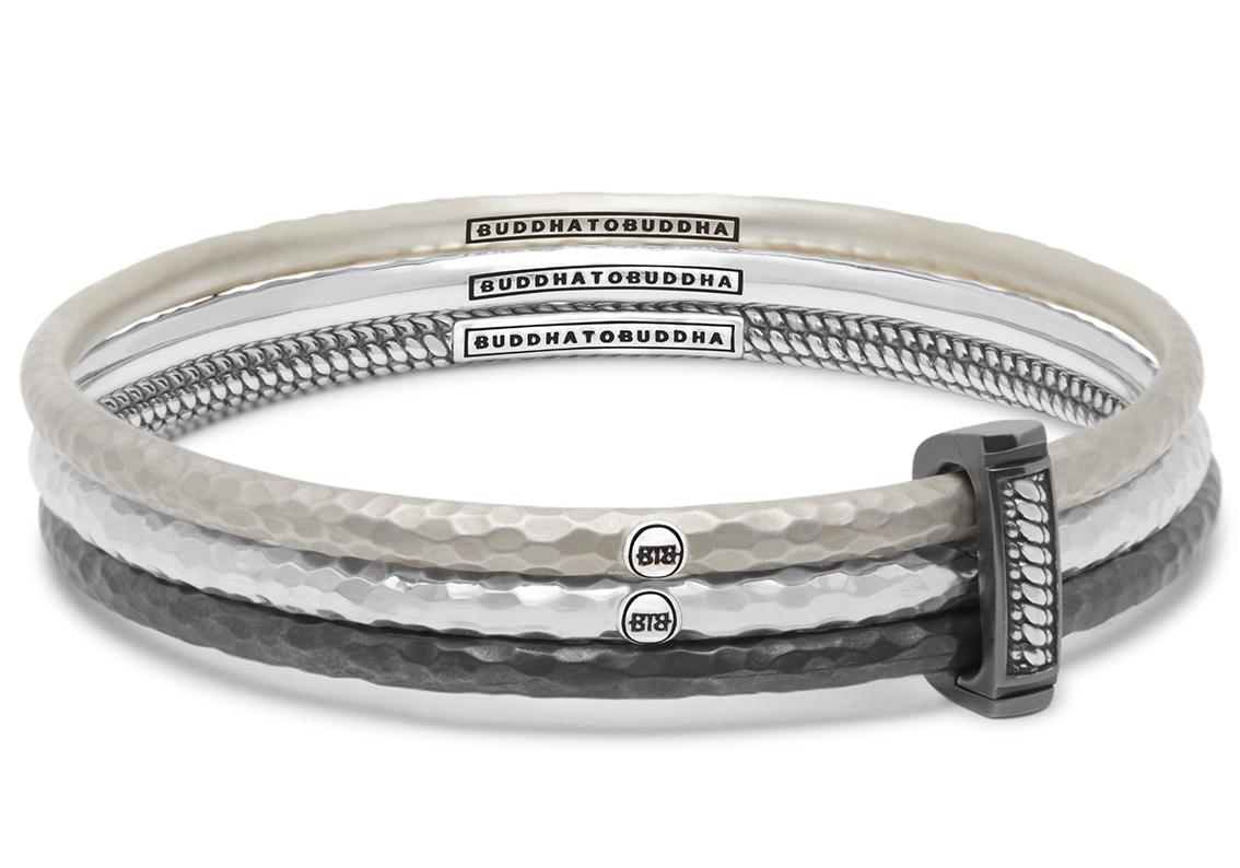 Buddha to Buddha 317 Armband Dunia Satu Set zilver Maat S (15-17 cm)