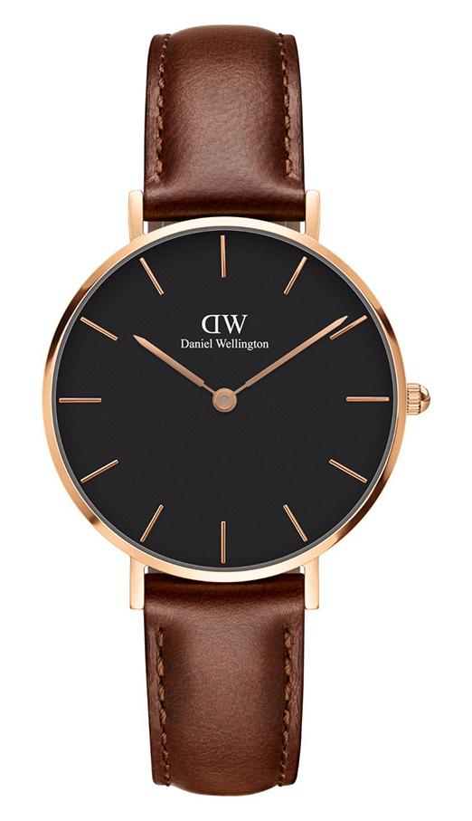 Daniel Wellington Horloge 'Petit St. Mawes' rosé-cognac 32 mm DW00100169