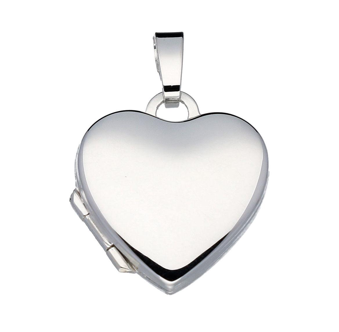 Zilveren Medaillon Hart glad 20 mm 145.0033.00