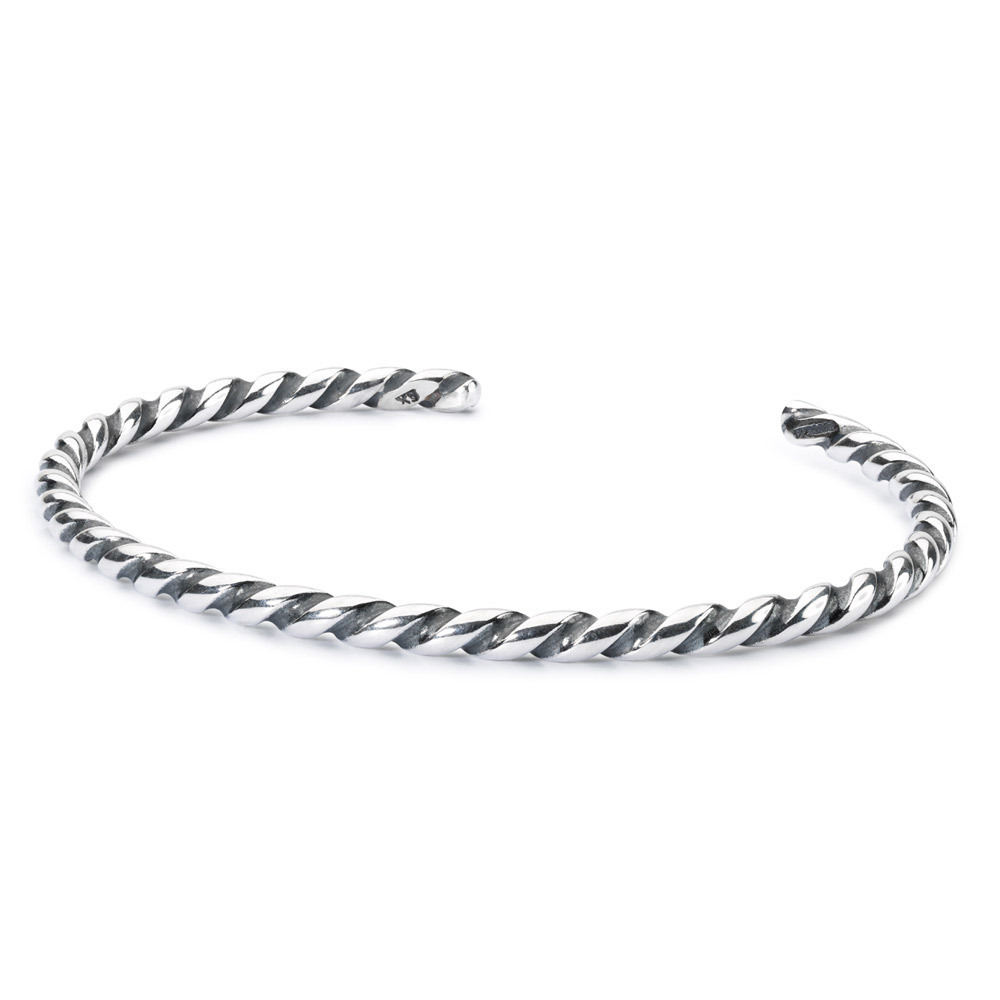 Trollbeads TAGBA-00006 Armband Open Bangle Twisted zilver L 24 cm +