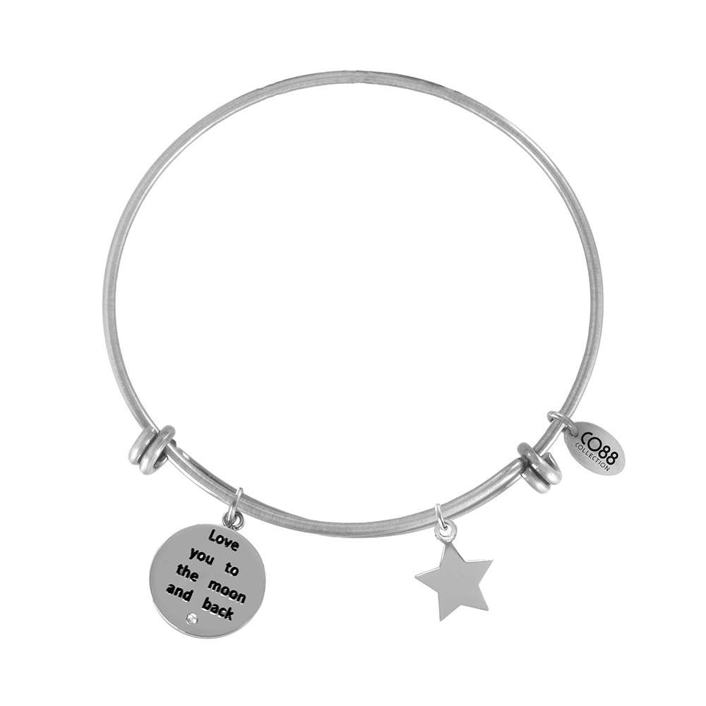 CO88 Armband 'Love You-Ster' staal-zilverkleurig, all-size 8CB-11014