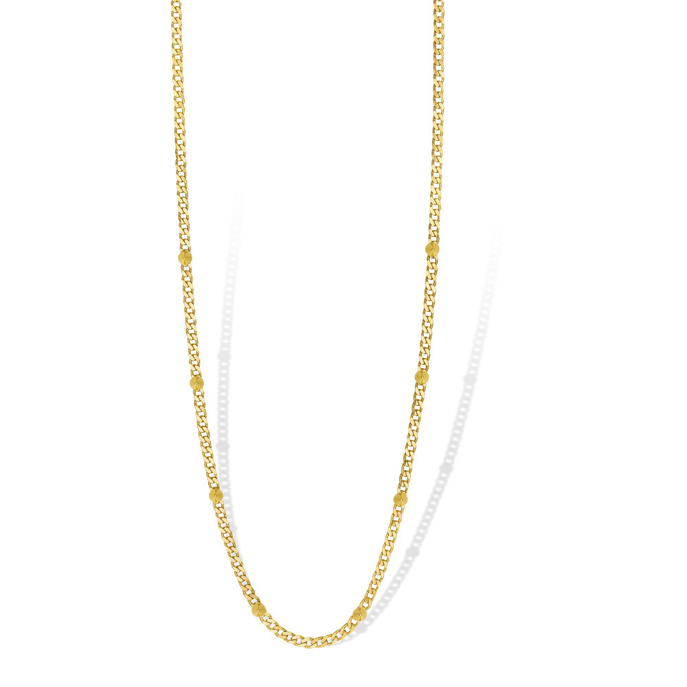 Mi Moneda NEC-02-SPI Necklace Spike Silver Goldplated