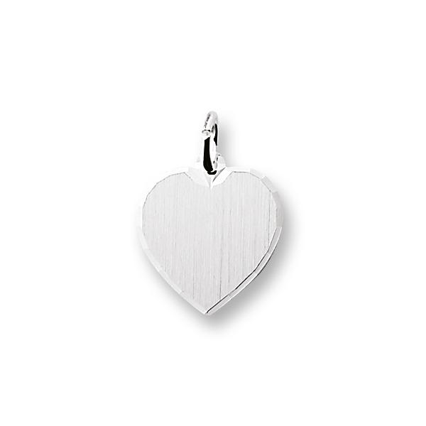 Huiscollectie 4101806 Witgouden graveerplaat hart