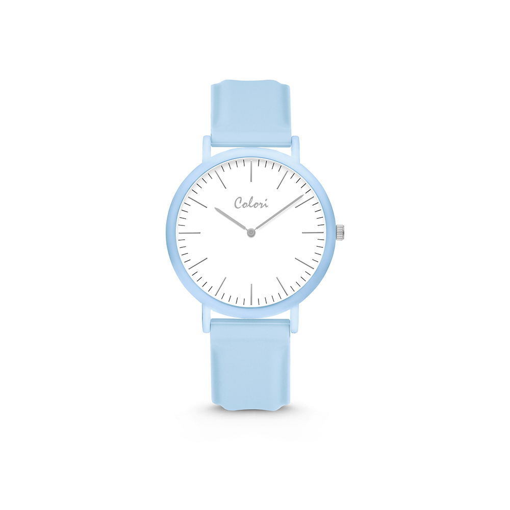 Colori Essentials 5 COL593 Horloge - Siliconen Band - Ø 30 mm - Blauw
