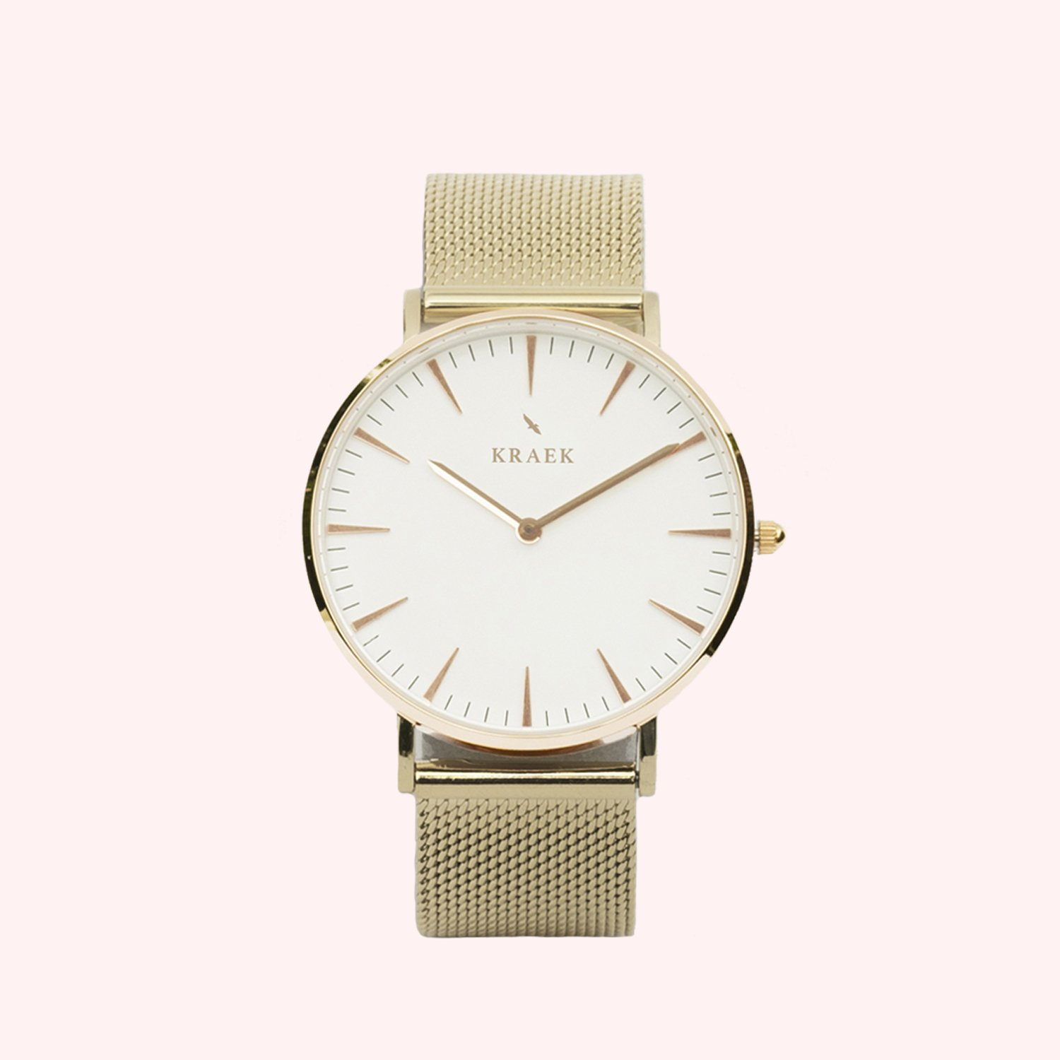 KRAEK Alouette | Rose Gold | Mesh 36 mm Dameshorloge