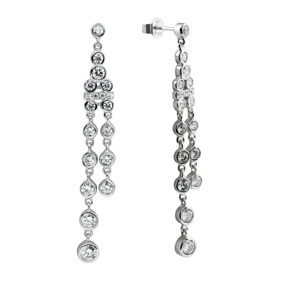 Zilveren Oorhangers 'Bridal' zirkonia Rond 808.0096.00