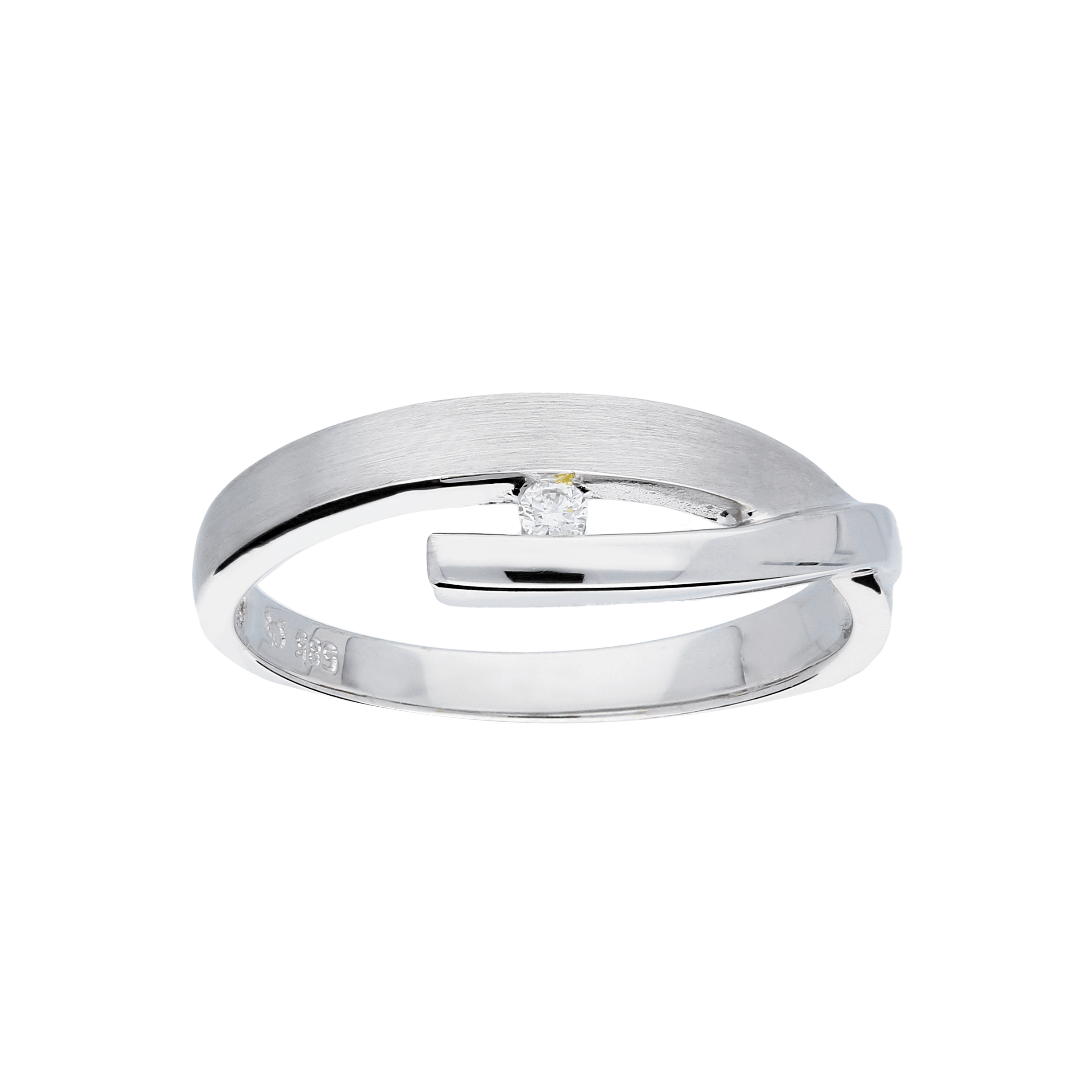 Glow Witgouden Ring Mat Glanzend Diamant 1 0.03ct G si 214.3013.56