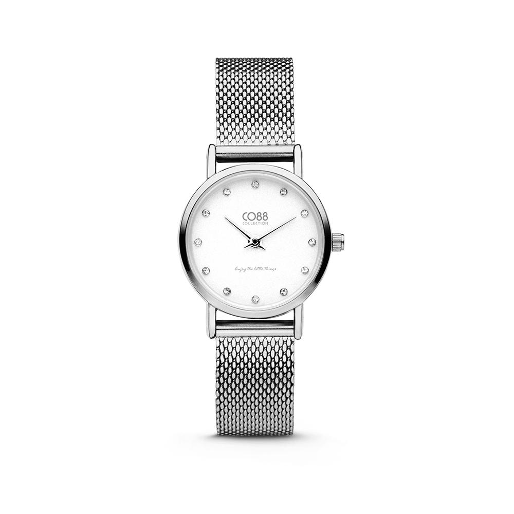CO88 Collection 8CW-10061 - Horloge - mesh band - zilverkleurig - o 24 mm