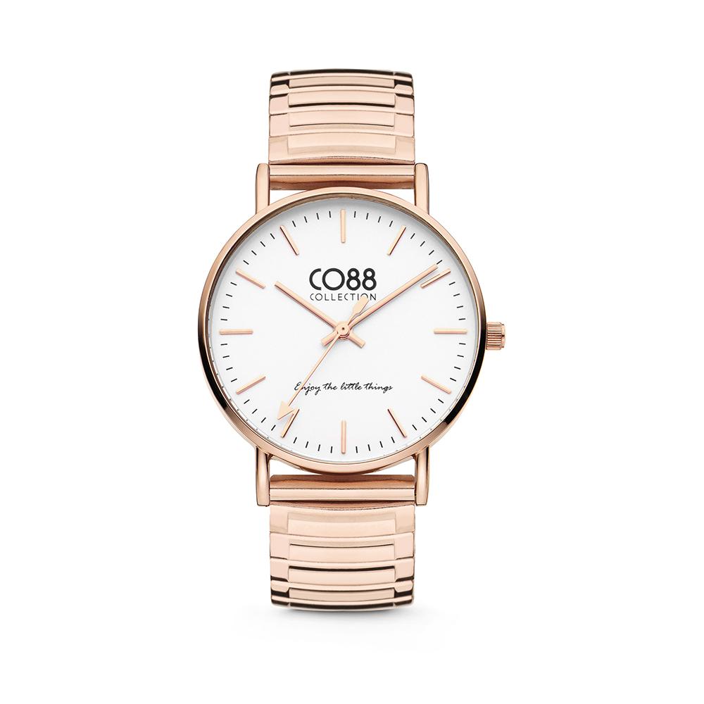 CO88 Collection Horloges 8CW 10086 Horloge met Stalen Elastische Band - Ø36 mm - Rosekleurig