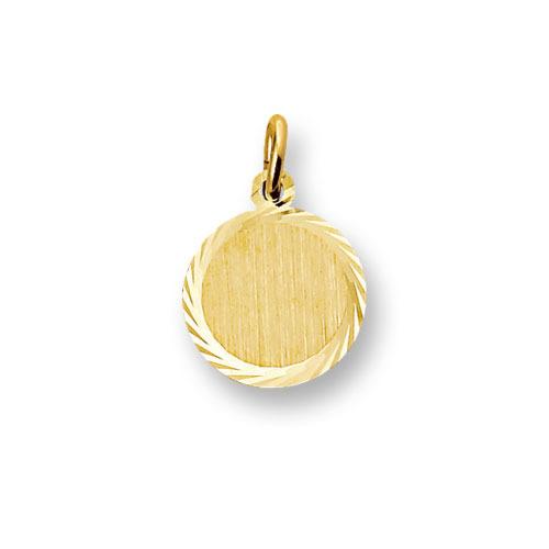 Huiscollectie 4013224 Gouden graveerplaat rond