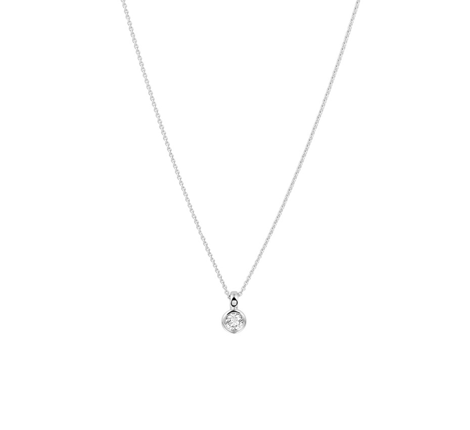 TFT Collier Witgoud Diamant 0.10ct H SI 0,7 mm 39,5 - 42 cm