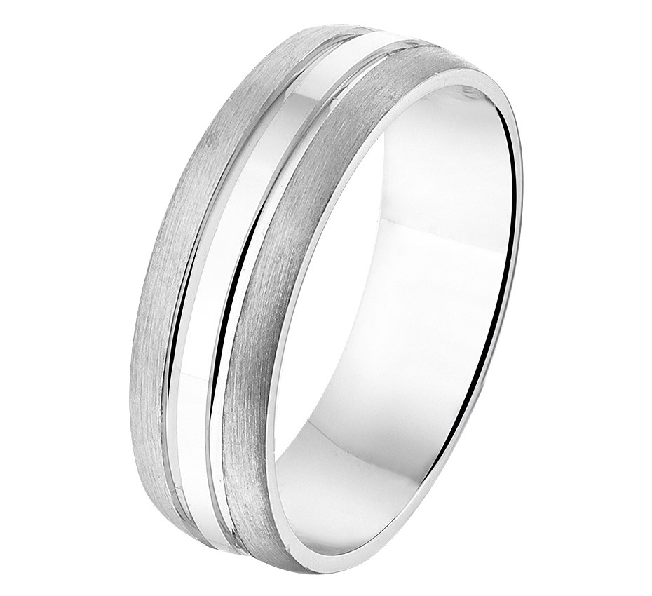 TFT Ring A210 - 6,5 Mm - Zonder Cz Zilver Gerhodineerd