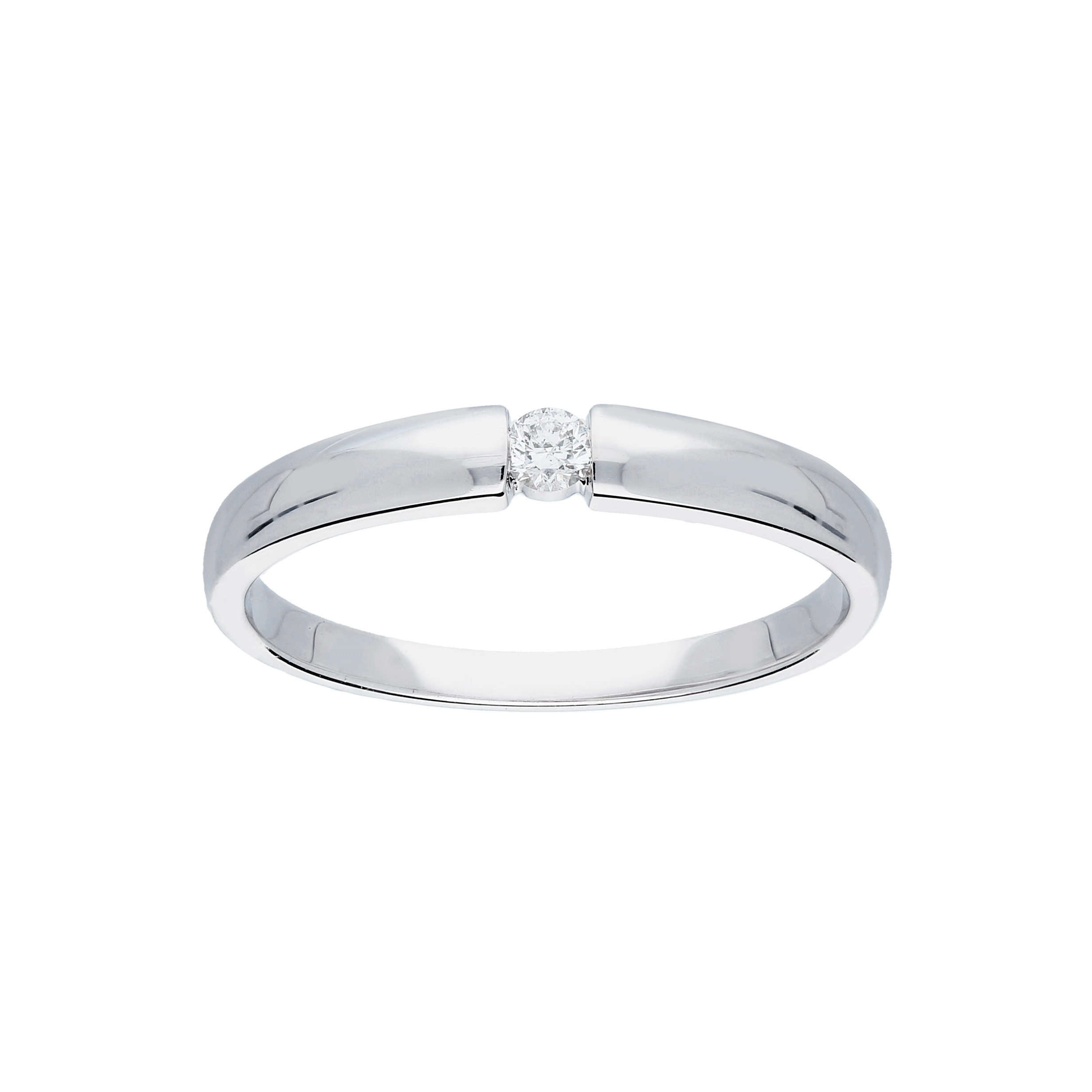 Glow Witgouden Ring Glanzend Diamant 1 0.06ct G si 214.3002.52