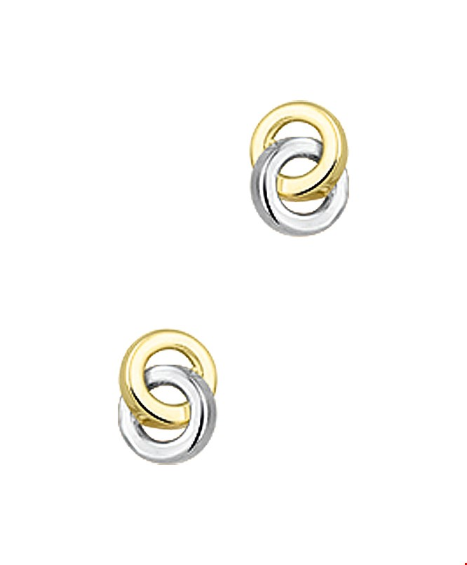 TFT Oorknoppen Geelgoud 6 mm x 4.5 mm